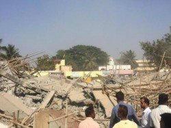 Feared Trapped As Under Construction Building Collapses Karnataka Dharwad