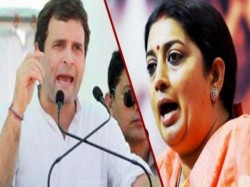 Smriti Irani Mocks Rahul Gandhi As Congress Leaders Urge Him Contest From Karnataka