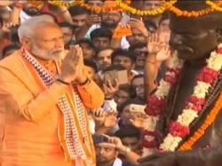 Prime Minister Narendra Modi Holds A Roadshow In Varanasi On Thursday
