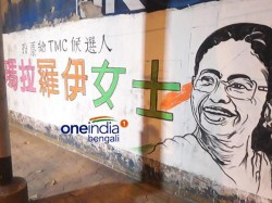 Mamata Banerjee And Trinamool Campaign In Chinese Language At Kolkata