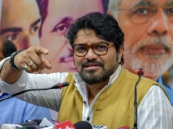 Babul Supriyo And Bjp Leaders Dance In Stage Of Narendra Modi At Asansole