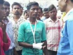Bjp Tmc Clash In Mallarpur Of Birbhum Polling Agent S Finger
