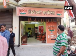 Office Of Bjp Candidate From Dum Dum Was Allegedly Ransacked By Tmc Goons