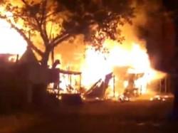 Devastating Fire In Several Shops In Lake Gardence