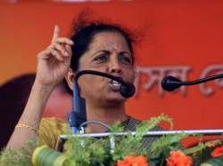 Nirmala Sitharaman In West Midnapore For Loksabha Vote 2019 Campaign