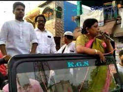 Priyoranjan Dasmunsi S Son Priyodeep Walks In Rally In Support Dipa Dasmunsi