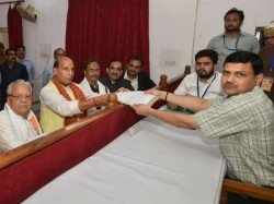 Rajnath Singh Files His Nomination Papers From Lucknow No Rival Yet