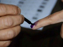 Voter In An Arunachal Booth On April