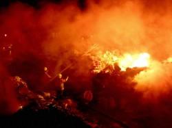 Devastating Fire At Vedic Village In Rajarhat Due To Lightning
