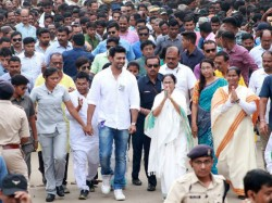 Cm Mamata Banerjee Takes On Bharati Ghosh From Road Show Of Ghatal