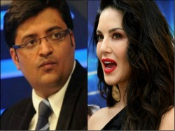 Sunny Leone Leading In Gurdaspur Arnab S Goof Up Goes Viral