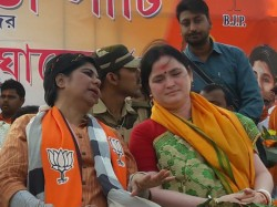 Bjp Candidate Bharati Ghosh Threatens To Tmc Workers To Beat