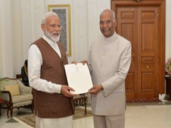 Narendra Modi Meets President Ram Nath Kovind Stakes Claim Form Govt
