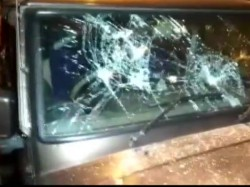West Bengal Violence Bjp Leader Mukul Roy S Car Vandalised
