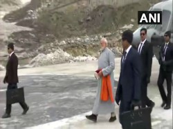 Pm Modi Arrives In Kedarnath He Will Go To Badrinath On Sunday