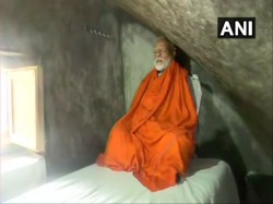 Pm Narendra Modi Meditated In A Holy Cave Near Kedarnath Shrine