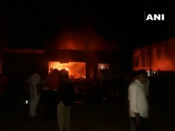 Person Suffocate To Death After Fire Breaks Out In Pune Saree Shop