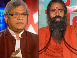 Ramdev Lodges Fir Against Sitaram Yechury For Linking Hinduism With Violence