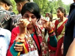 Bharati Ghosh S Car Again Stopped In West Midnapur After Poll Violence