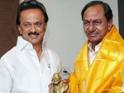 Telengana Cm Kc Rao Meets With Dmk Chief Stalin To Build Federal Front