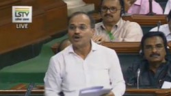 Adhir Chowdhury Criticizes Narendra Modi That Congress Became Thin Not Small