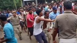 People Attack Police In Alipurduar Break Car
