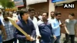 Mla Akash Vijayvargiya Attacked Indore Municipal Official With Cricket Bat