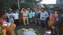 Bjp Worker Ajay Mandi Allegedly Murdered At Bangalitola In Ghatal In West Bengal