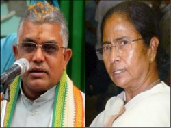 Bjp Leader Dilip Ghosh Took Part In Victory Rally At Raigunge