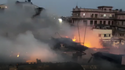 A Devastating Fire In Multi Storage Building In Lenin Sarani Of Kolkata