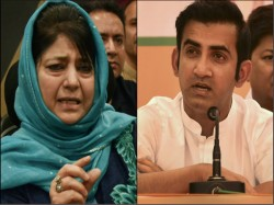 Gautam Gambhir Triggers Another Twitter War With Mehbooba Mufti