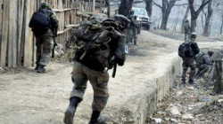 An Exchange Of Fire Between Terrorists And Security Forces In Pulwama