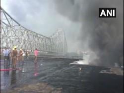 Devastating Fire Near Jagannath Ghat Near Howrah Bridge In Kolkata