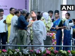 Mamata Banerjee Establishes The Statue Of Vidyasagar In Vidysagar College