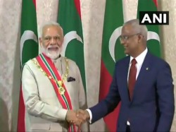 Pm Narendra Modi Conferred Maldives Highest Honour Accorded Foreign Dignitaries