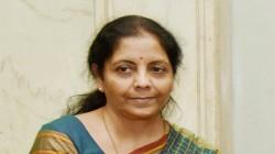 Nirmala Sitaraman Will Meet Gst Council As Finance Ministe