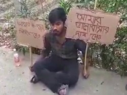 Young Man Stages Agitation Infront Of Lovers House In Dhupgu