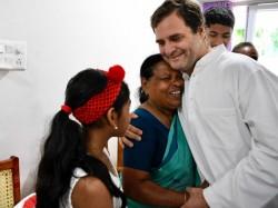 Rahul Gandhi In Wayanad Meets Delivery Nurse Rajamma