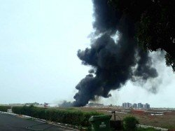 Goa Airport Temporarily Closed Due To Fire Caused By Drop Tank Naval Aircraft