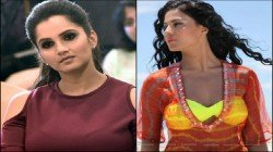 Icc Cricket India Vs Pakistan World Cup Match Sania Veena Get Into A Spat