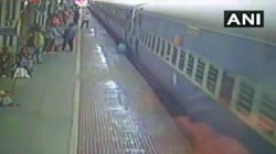 A Man Narrowly Escaped The Death After He Fall From A Train At The Jharsuguda