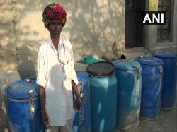Resident Of Bhilwara In Rajasthan Collect Water In A Drum And Keep It Locked To Prevent Stealing