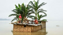 Flood Situation Deteriorated In Assam As Flood Water Submerged 30 Of The 33 Districts In Assam