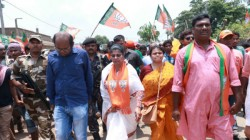 Bjp Rallied In Midnapore Sayantan Basu And Bharati Ghosh Present
