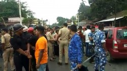Tmc Minister Faces Protest Of Bjp Cadres In Cooch Behar