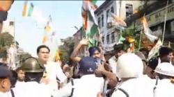 Youth Congress Organises Cut Money Protest In Kolkata