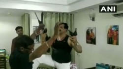 Haridwar Mla Danceing To Bollywood Beats With Guns And Drink