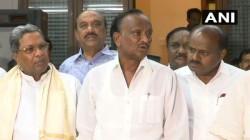 Karnataka Rebel Lawmaker Announcing That He Was Withdrawing His Resignation