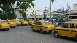 Yellow Taxi Strike At Kolkata With App Cab
