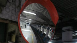 Convex Mirror Installed In Kolkata Metro Station